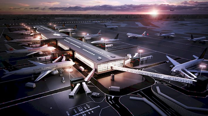 Aérogare 2B de l'aéroport d'Heathrow