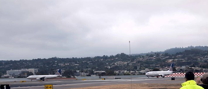 Runway reopening at the San Francisco International Airport