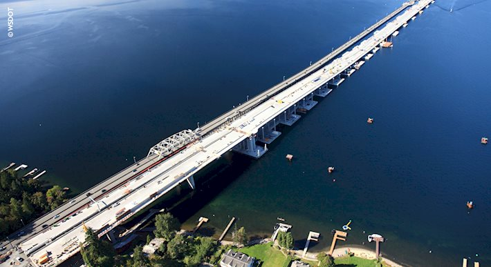 SR 520 floating bridges in Seattle