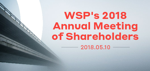 WSP's 2018 Annual Meeting of Shareholders